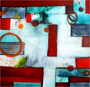"""Yosi Losaij """"SoulFood"""" 2014, 80x80"""